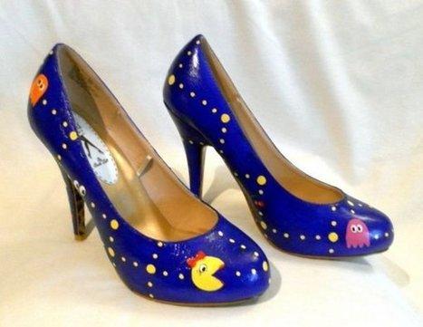 Ms. Pac-Man Shoes: Walka, Walka, Walka | All Geeks | Scoop.it