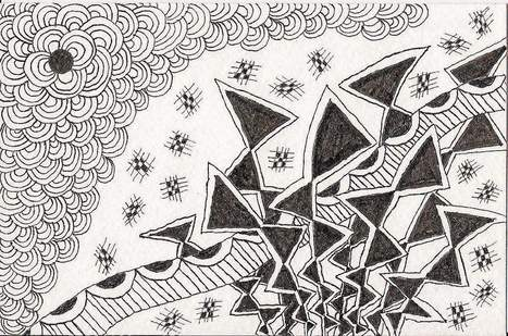 Doodling with purpose: Drawing Zentangle images reduces stress - The Reporter | Zentangle inspired art | Scoop.it