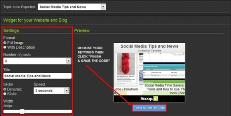 How to embed your Scoop.it widget to your blog | Creative Ramblings - A Blog by Cendrine Marrouat | SocialMedia for Change | Scoop.it