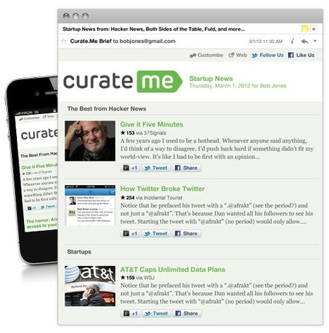 News Discovery: Customize and Schedule Your Daily News Brief(s) With Curate.Me | Tips, Tricks and Technology How To's | Scoop.it