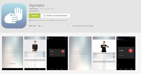 Un traductor de español a la lengua de signos | MundoTIC | Scoop.it