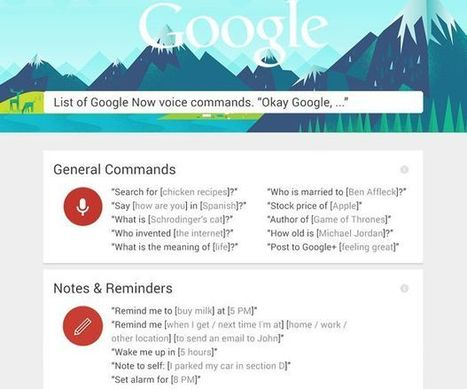 Learn the secrets of Google Now voice commands (infographic) | Teach-ologies | Scoop.it
