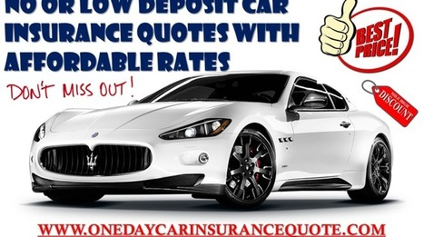 Low Deposit Car Insurance for Young Drivers on Same Day Online | One Day Car Insurance Quote | Scoop.it