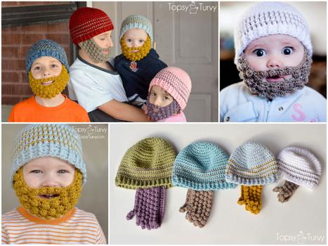 Bobble Crochet Beard Beanies | 123Bambini | Kinderartikel | Scoop.it