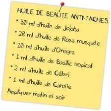 Recette naturelle anti-tâches brunes - Passion Huiles Essentielles | 694028 | Scoop.it