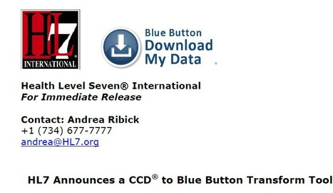 HL7 launches Blue Button CCD tool | Scooped Things to Read | Scoop.it