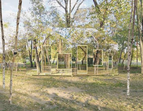 invisible barn by STPMJ reflects the surrounding landscape - designboom | architecture & design magazine | Art Installation | Scoop.it