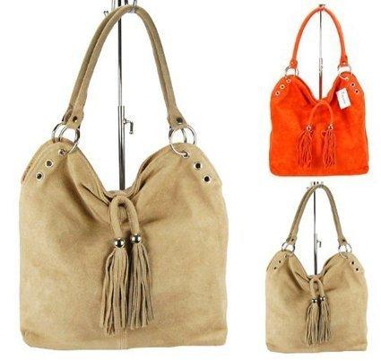 &&&   MARC Damen Handtasche, Beuteltasche, Echtleder, Fransendeko, 2 Farben: sand braun oder orange, Farbe:sand comb | Clutch Bags Online | Scoop.it