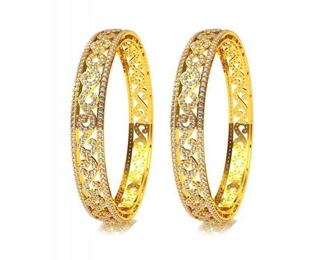 Alluring Diamond Bangle Pair | Diamond Solitaire Ring | Scoop.it