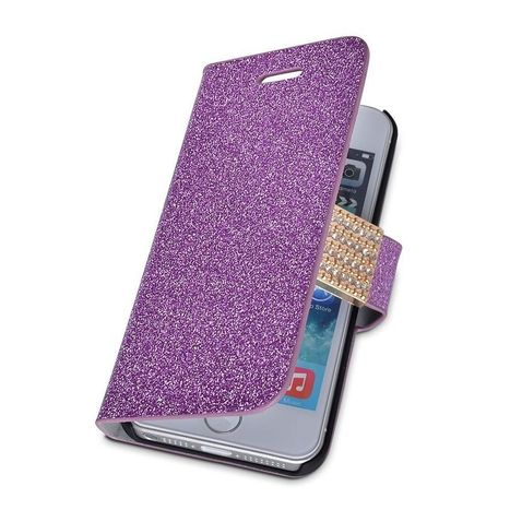 Bling Glitter Wallet Case Cover Buckle Flip Phone For iPhone 5 5s Purple SNY03   iPhone Cases   Scoop.it