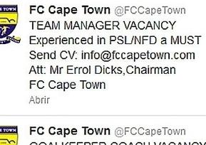 Un equipo sudafricano busca entrenador y portero ¡ por Twitter ! - MARCA.com | Pasión Periodística | Scoop.it