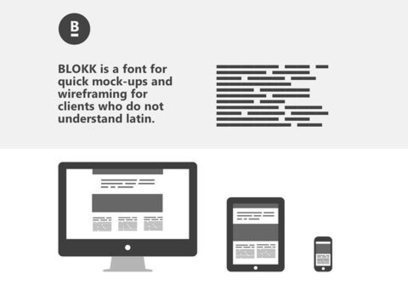 BLOKK – Une alternative sérieuse au Lorem Ipsum | Webdesign, ressources et tendances. | Scoop.it