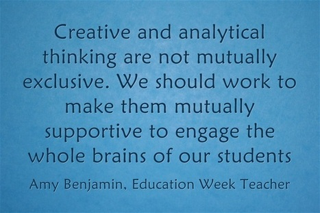 Response: Ways To Develop Creative Thinking In The Common Core | common core practitioner | Scoop.it