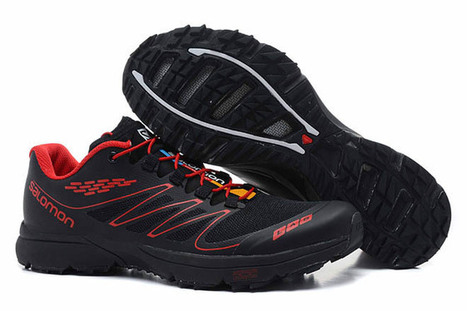 Salomon Mens S LAB Sense Ultra Athletic Running Sports Outdoor Shoes Black And Red | fashion list | Scoop.it