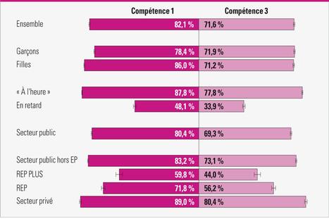 Évaluation numérique des compétences du socle en début de sixième : des niveaux de performance contrastés selon les académies | Ressources pour les TICE en primaire | Scoop.it