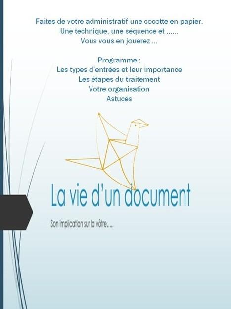 Atelier : La vie d'un document | Facebook | Secrétariat | Scoop.it