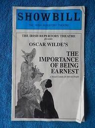 The Importance Of Being Earnest - Irish Repertory Theatre Playbill - 1996 | eBay | The Irish Literary Times | Scoop.it