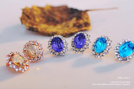 Diamonds Rounding Transparent Crystal Earrings | Women's Earrings | Scoop.it
