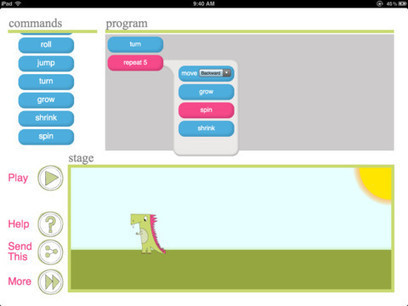 Daisy the Dinosaur - an iPad app to introduce programmming | Techie tools for the classroom | Scoop.it