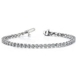 Timeless 3 Prong Diamond Tennis Bracelet - Bracelets - JEWELRY   myglitzjewels   Scoop.it