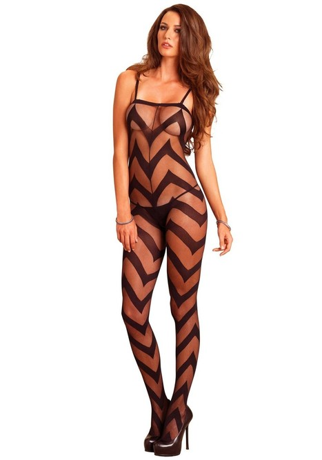 Leg Avenue Sheer chevron bodystocking | Tights, Stay Ups, Hold Ups Sexy Tights | Scoop.it