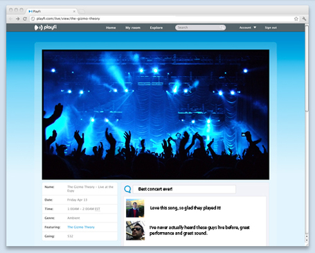 PlayFi Lets Bands Play Shows Online and Sell Tickets | Music business | Scoop.it