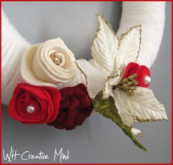 What happens in a creative mind: Christmas yarn wreath: La mia ghirlanda fuoriporta | Creativita' e fai-da-te | Scoop.it