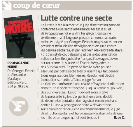 Propagande Noire: le coup de coeur du Figaro littéraire! | Propagande Noire | Scoop.it