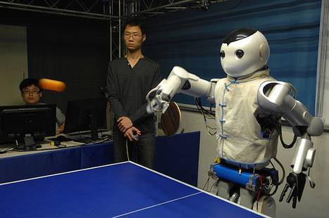 Ping-pong robots debut in China | RobotHub | Scoop.it