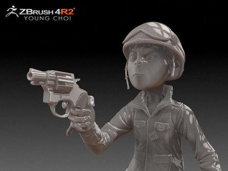 ZBrush : making-of, illustrations, modèles gratuits et tutoriel - Actualité sur 3DVF.com. | Infographie 3D | Scoop.it