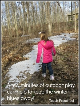 A few minutes outdoors on a cold winter day helps keep the winter blues away   Teach Preschool   Scoop.it