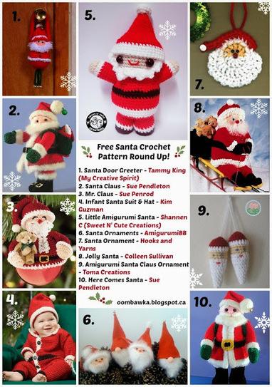 Free Santa Crochet Pattern Round Up! | Crochet | Scoop.it