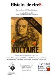 Journée d'étude «Histoire de rireS. Rire et politique du XVIe au XXIe siècle»   AHMUF   LETTRES ET SCIENCES SOCIALES   Scoop.it