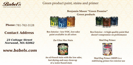 Go green with babel's Eco friendly products | Babels Paint and Decorating Stores | Scoop.it