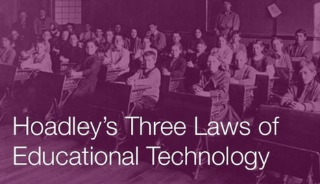 Hoadley's 3 Laws Of Education Technology | Jewish Education Around the World | Scoop.it