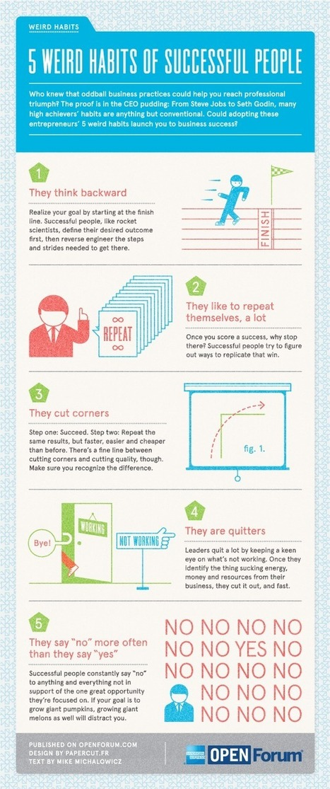 5 Weird Habits of Successful People [INFOGRAPHIC] | Mind Goal Success | Scoop.it