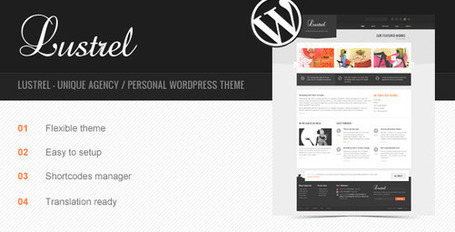Lustrel - Unique Agency Wordpress Theme | Premium Wordpress Themes | Scoop.it