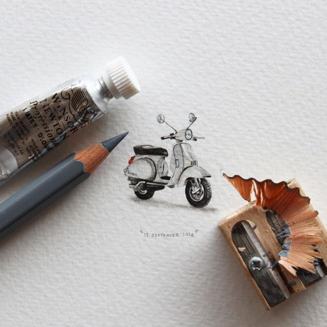 Postcards for Ants: A 365-Day Miniature Painting Project by Lorraine Loots | Culture and Fun - Art | Scoop.it