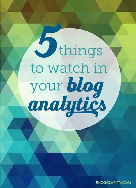 Five Things to Watch in Your Blog Analytics | Blogging: Tips + Design + Goodies | Scoop.it