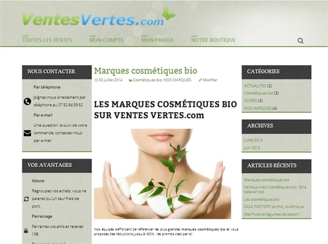 Ventes Vertes Blog - Le blog du site de vente privée bio et écolo : Ventes Vertes | Bio, écologie et commerce équitable | Scoop.it