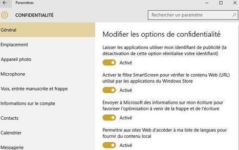Windows 10 : Microsoft s'excuse d'avoir modifié vos paramètres de confidentialité   Freewares   Scoop.it