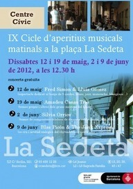 Aperitius musicals a la Sedeta. Barcelona | Actualitat Musica | Scoop.it