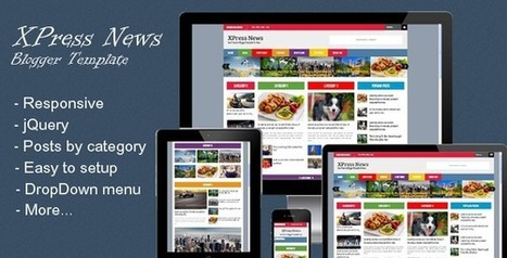 XPress News - Responsive Blogger Magazine premium template free download. | Blogger themes | Scoop.it
