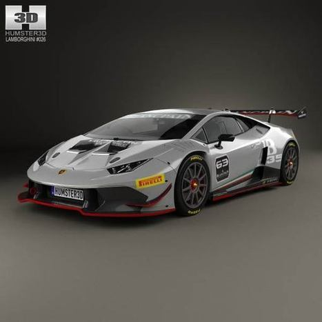 3D model of Lamborghini Huracan (LP 620-2) Super Trofeo 2014   3D models   Scoop.it