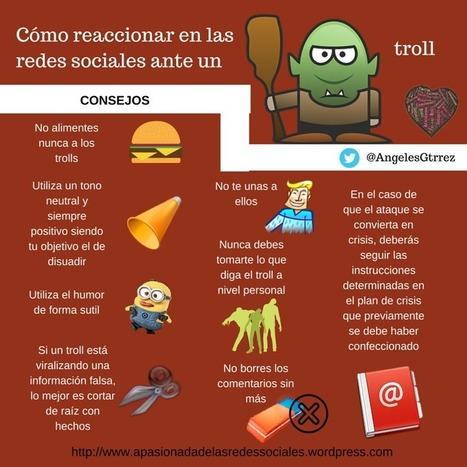 Cómo reaccionar ante un Troll en redes Sociales #infografia #infographic #socialmedia   TICs y Formación   Investigaciones en TIC, y educación a distancia   Scoop.it