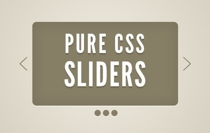 Pure CSS3 Sliders and Tutorials | Digital Technology | Scoop.it