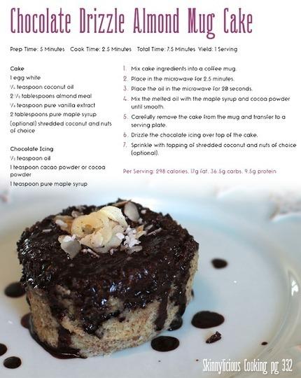 Chocolate Drizzle Almond Mug Cake Recipe | Useful Fitness Articles | Scoop.it