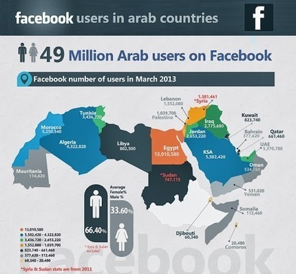 Khalil Trabelsi - Google+ - Quelques chiffres des utilisateurs Facebook dans le monde arabe. | Afrique 2.0 - Ça bouge ! | Scoop.it