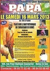Guinée Conakry: Invitation Concert Papa Diabaté Samedi 16 mars 2013 | Actions Panafricaines | Scoop.it