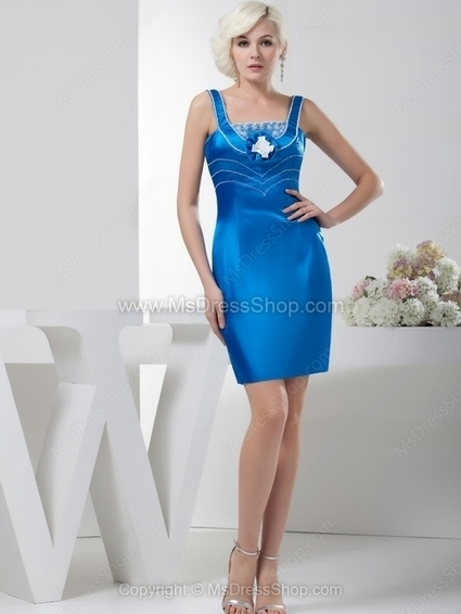 Sheath/Column Straps Elastic Woven Satin Short/Mini Beading Cocktail Dresses | Cocktail dresses online | Scoop.it